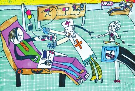 第一届小学生无偿献血主题绘画比赛获奖作品揭